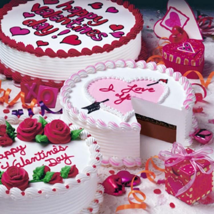 Homemade valentine cakes