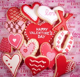 1024x1010px Valentines Day Cookies Picture in Valentine Cakes