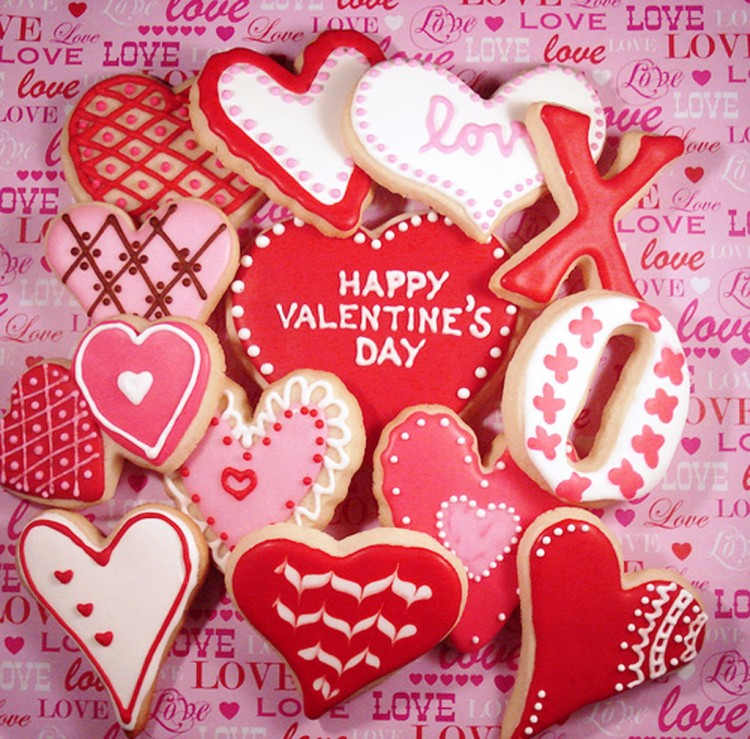 Valentines Day Cookies Picture in Valentine Cakes