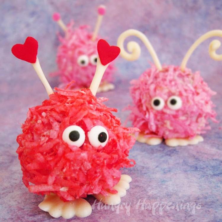 Valentines Day Warm Fuzzy Cake Balls Picture in Valentine Cakes