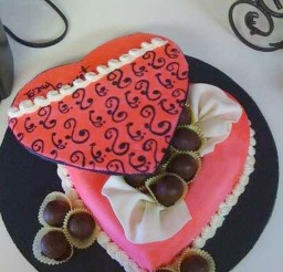 1024x1365px Valentines Day Candy Box With Cake Balls Picture in Valentine Cakes