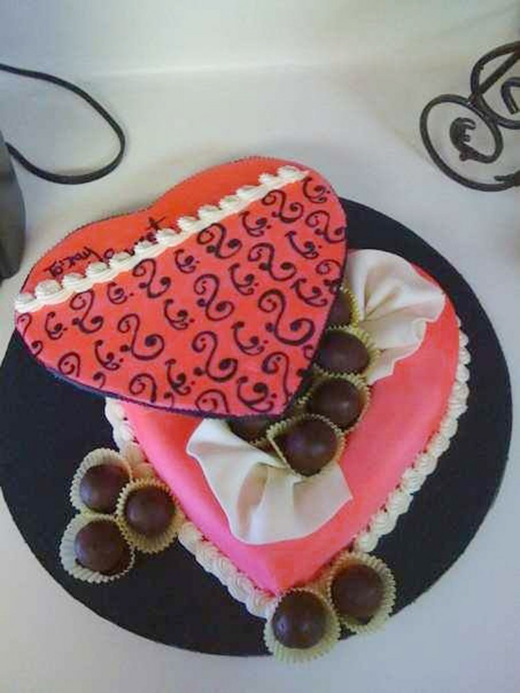 Valentines Day Candy Box With Cake Balls Picture in Valentine Cakes