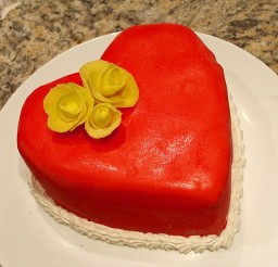 1024x768px Valentines Heart Cake Picture in Valentine Cakes