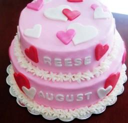 1024x1120px Valentines Theme Birthday Cake Picture in Birthday Cake