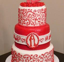 1024x1613px Valentines Wedding Cake Picture in Wedding Cake