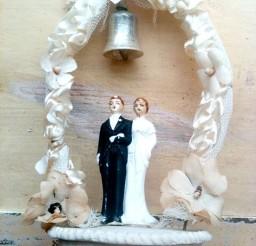 1024x1365px Vintage Bride Groom Bells Wedding Cake Topper Picture in Wedding Cake