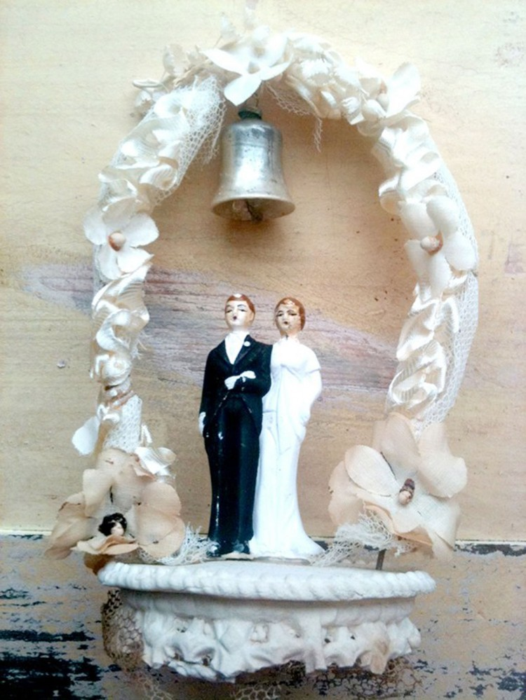 s mores wedding cake topper vintage groom bells wedding cake topper wedding cake 20256