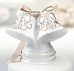 1024x1022px Wedding Cake Topper Bells Picture in Wedding Cake