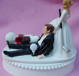 1024x1135px Wedding Cake Topper Fan Golfing Groom Picture in Wedding Cake