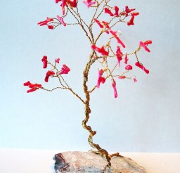 1024x1365px Wedding Cake Topper Red Coral Wire Gem Tree Picture in Wedding Cake