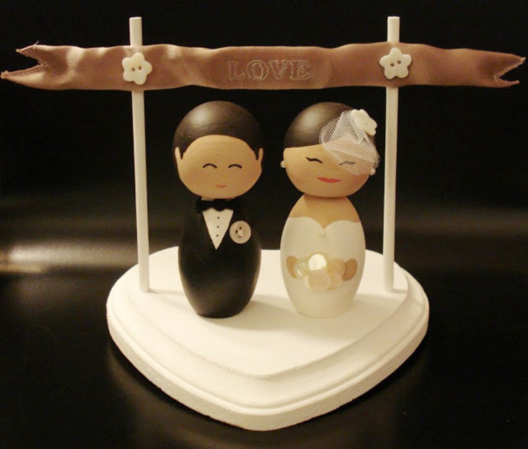 Wedding Cake Topper Tutorial Picture in Wedding Cake