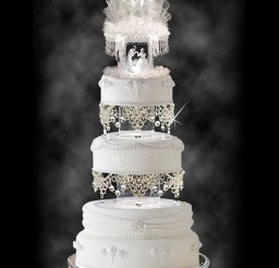 1024x1369px Wedding Cake Topper With Cascading Swarovski Picture in Wedding Cake