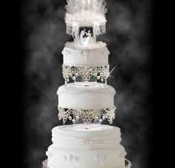 1024x1369px Wedding Cake Topper With Cascading Swarovski Picture in Wedding Cake
