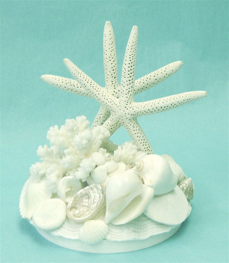 Wedding Cake Topper With Starfish Shells Picture in Wedding Cake