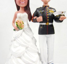 1024x1609px Wedding Cake Toppers Marine Picture in Wedding Cake