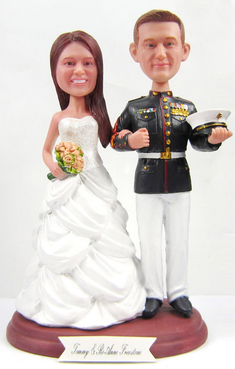 Wedding Cake Toppers Marine Picture in Wedding Cake