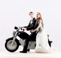 1024x1024px Wedding Cake Toppers Motorcycle Picture in Wedding Cake