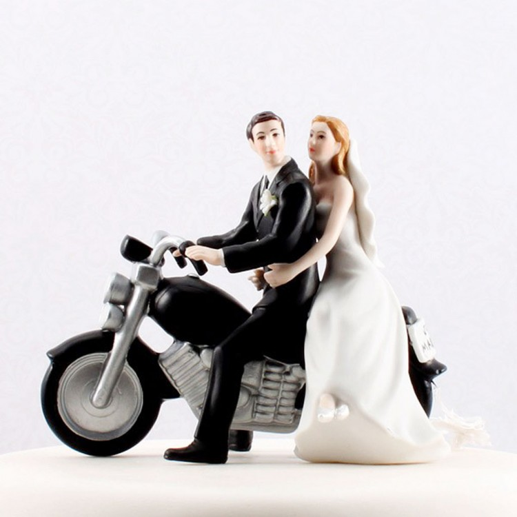 Wedding Cake Toppers Motorcycle Picture in Wedding Cake