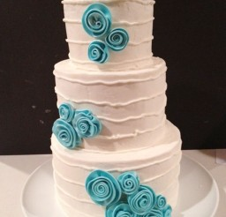 1024x1365px Wedding Cake With Tiffany Blue Accents Picture in Wedding Cake