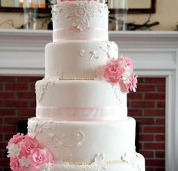 1024x1365px Wedding Cakes Rhode Island Pink Flower Picture in Wedding Cake
