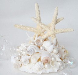 1024x1008px Wedding Starfish Cake Topper Picture in Wedding Cake