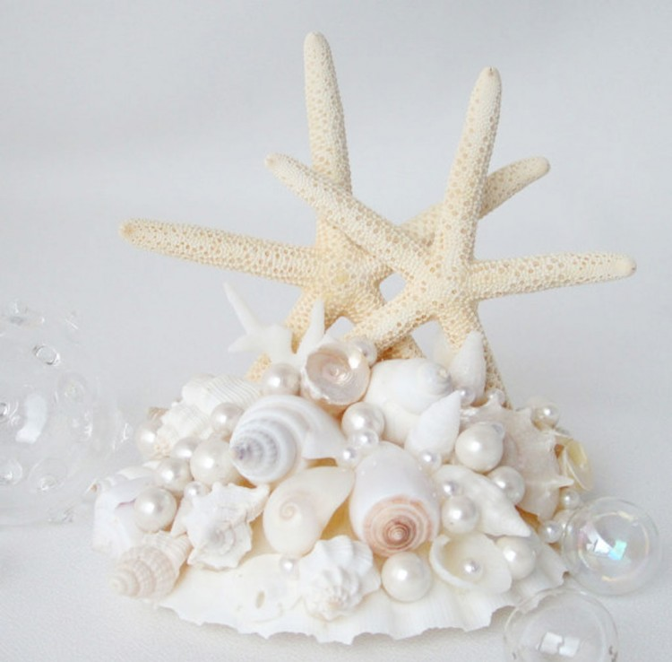 Wedding Starfish Cake Topper Picture in Wedding Cake