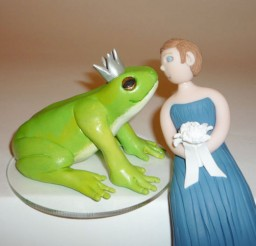 1024x817px Wedding Cake Topper Frog Prince And Bride 2 Picture in Wedding Cake