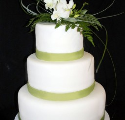 1024x1507px Wedding Cake With Green Theme Picture in Wedding Cake