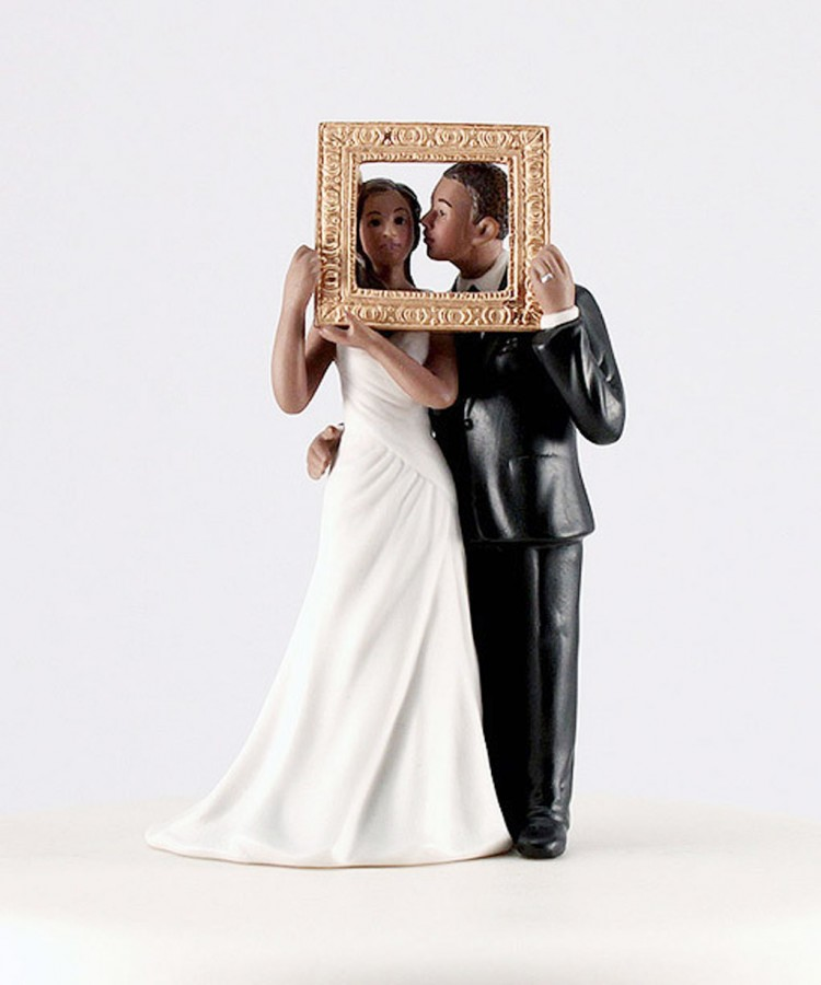 Weddingstar Frames Cake Topper Picture in Wedding Cake