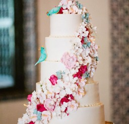 1024x1536px Whimsical Floral Wedding Cake Picture in Wedding Cake
