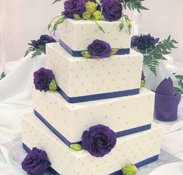 1024x1538px White And Purple Lavencer Wedding Cake Picture in Wedding Cake