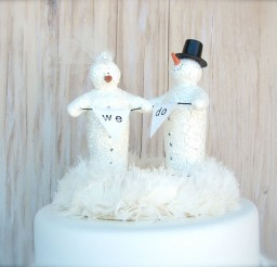 1024x922px Winter Wedding Cake Toppers Picture in Wedding Cake