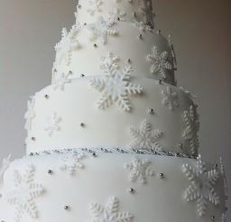 1024x1371px Winter Wonderland Tier Wedding Cake Picture in Wedding Cake