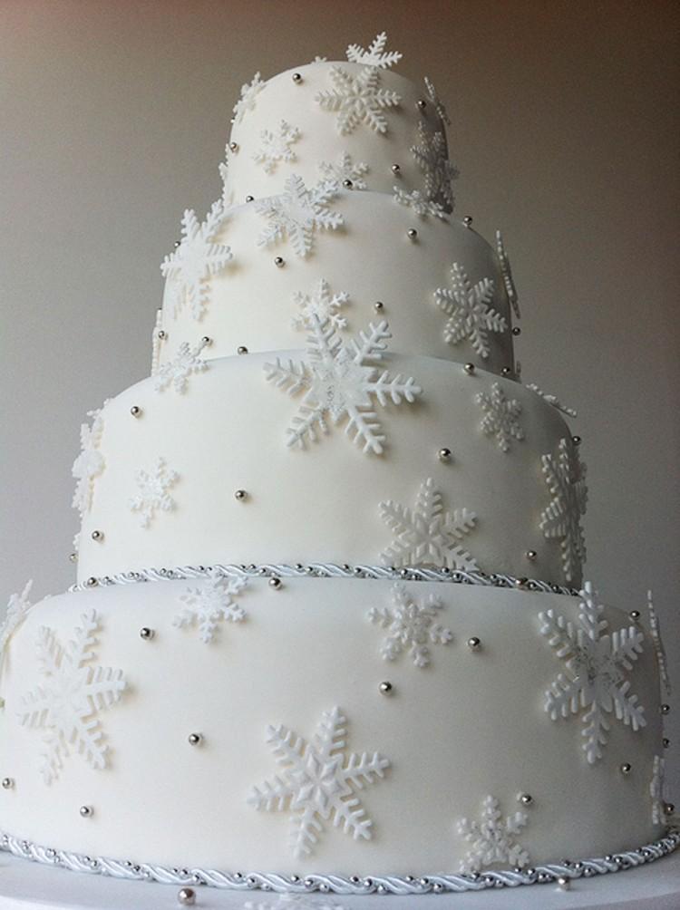 Winter Wonderland Tier Wedding Cake Picture in Wedding Cake