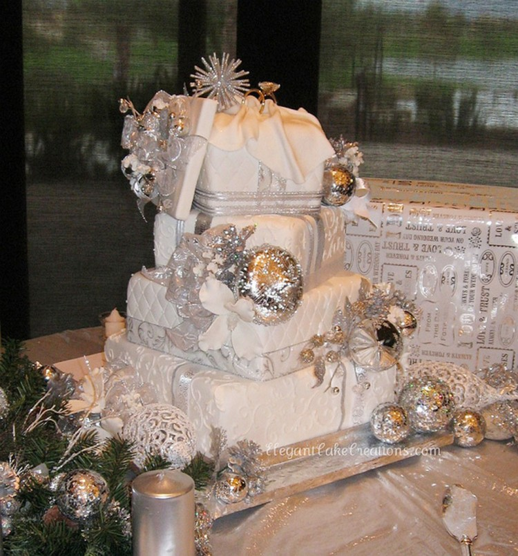 Winter Wonderland Wedding Cakes Picture in Wedding Cake