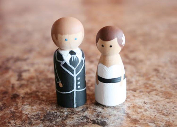 Wooden Wedding Cake Toppers 1 Picture in Wedding Cake