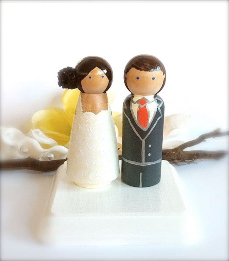 Wooden Wedding Cake Toppers 2 Picture in Wedding Cake
