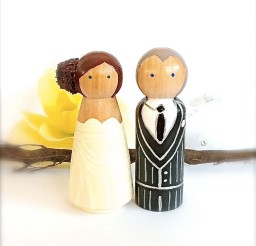 1024x1128px Wooden Wedding Cake Toppers 3 Picture in Wedding Cake