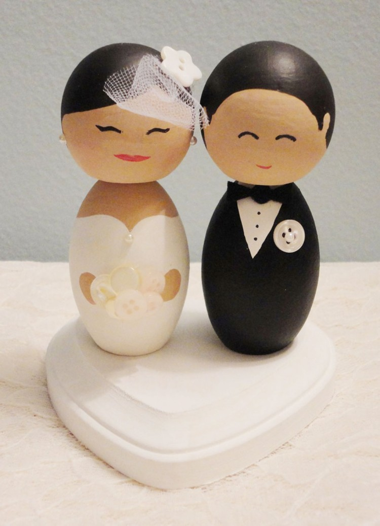 Wooden Wedding Cake Toppers 5 Picture in Wedding Cake