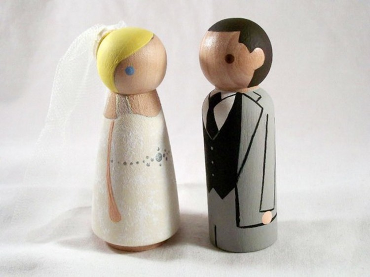 Wooden Wedding Cake Toppers 6 Picture in Wedding Cake