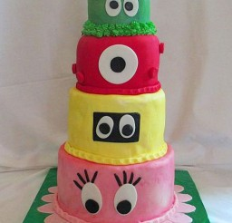 1024x1479px Yo Gabba Gabba Fondant Birthday Cake Picture in Birthday Cake