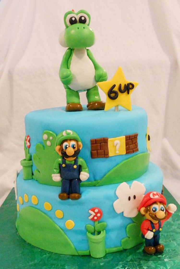 Yoshi Birthday Cake Picture in Birthday Cake