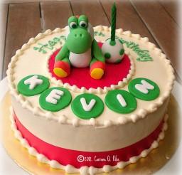 1024x1030px Yoshi Themed Birthday Cake Picture in Birthday Cake
