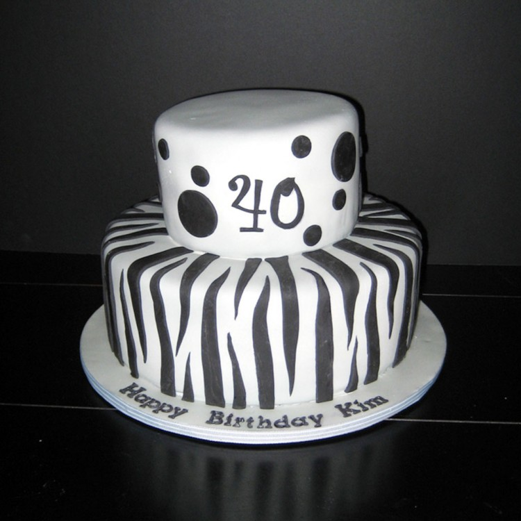 Zebra Print Birthday Cake Picture in Birthday Cake