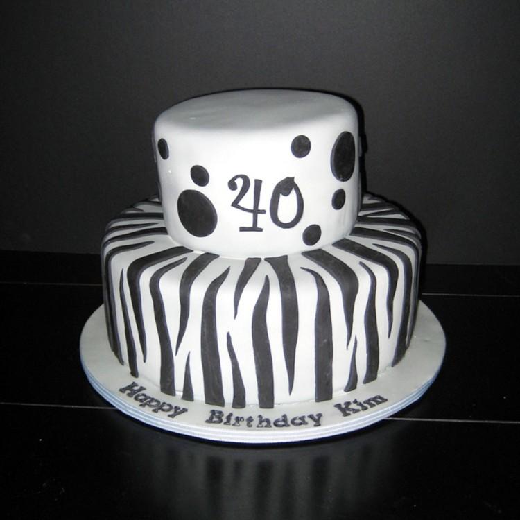 Zebra Print Birthday Cake Picture in Birthday Cake