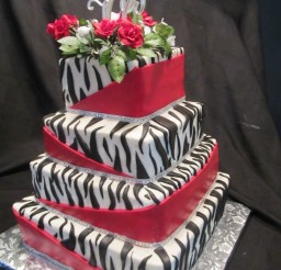 1024x1365px Zebra Print Wedding Cake Design Picture in Wedding Cake