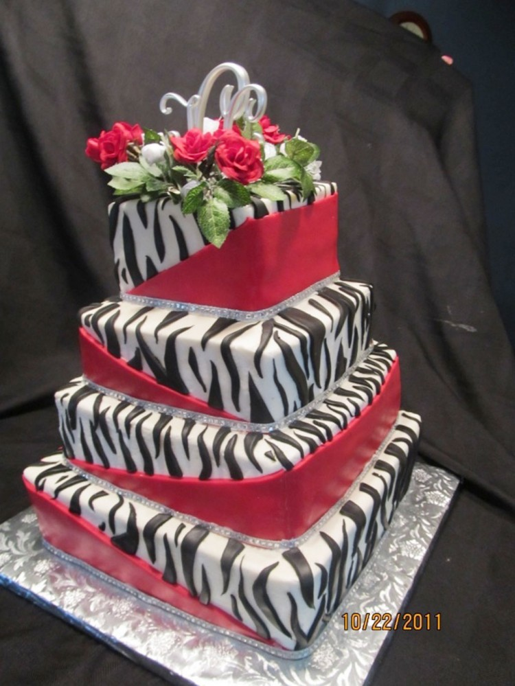 Zebra Print Wedding Cake Design Picture in Wedding Cake