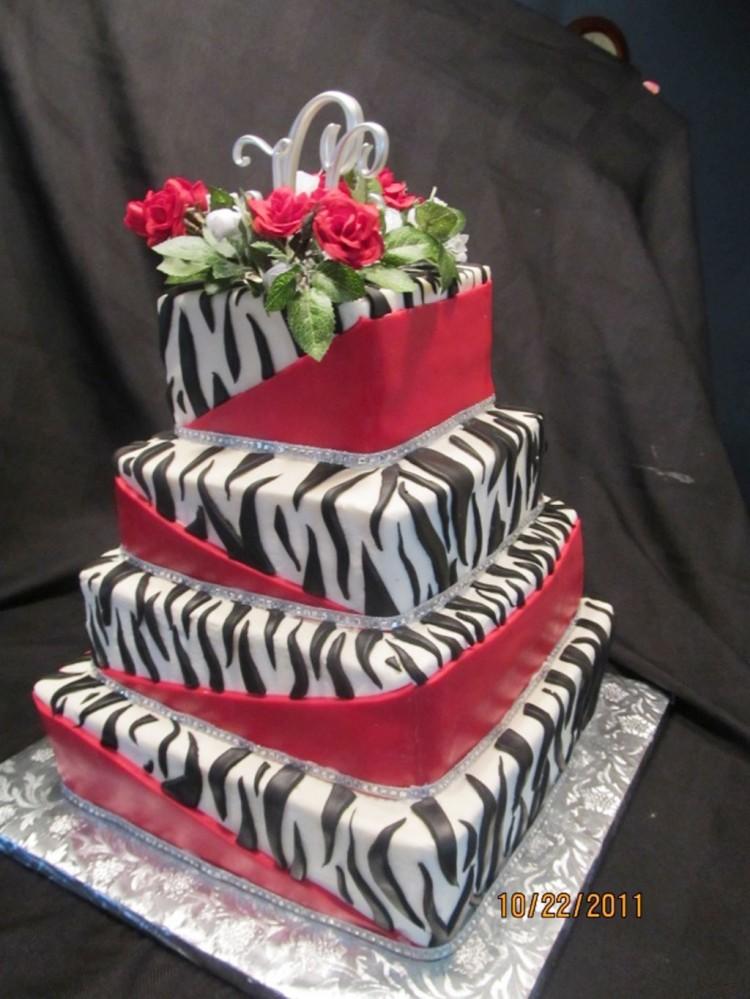 Zebra Print Wedding Cake Design Picture in Wedding Cake