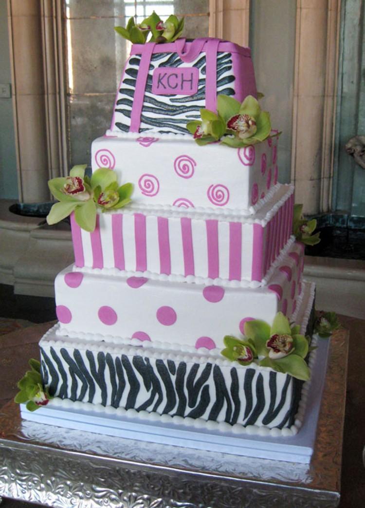 Zebra Print Wedding Cakes Picture in Wedding Cake