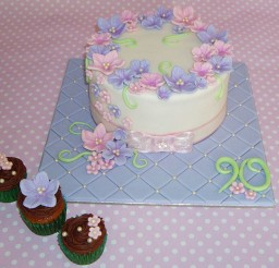 1024x858px Beauty 90th Birthday Cakes Picture in Birthday Cake